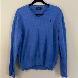 Polo Ralph Lauren 100% Pima Cotton Blue Sweater